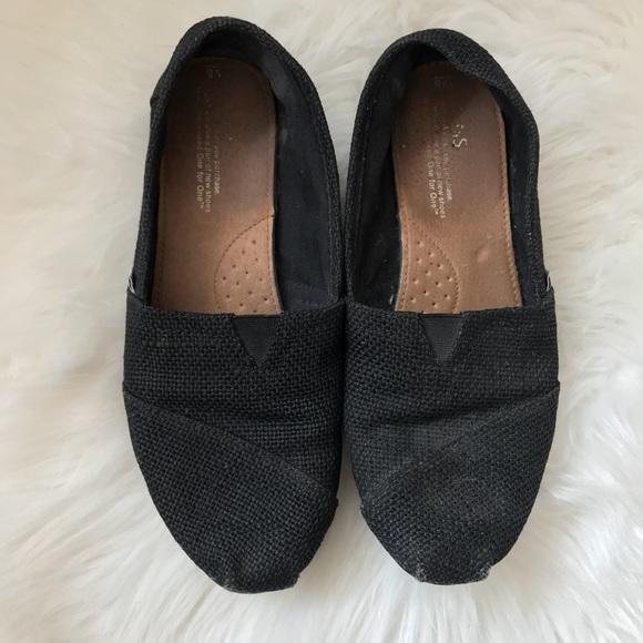 39570fe69d9 Toms Shoes | Womens Size 8 Black Classic Canvas Flats | Poshmark